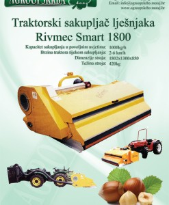Sakupljač lješnjaka traktorski Rivmec Smart 1800 1